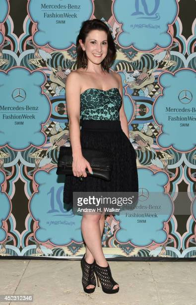 Designer Caitlin Kelly attends the opening party celebrating 10 years during MercedesBenz Fashion Week Swim 2015 at The Raleigh on July 17 2014 in...