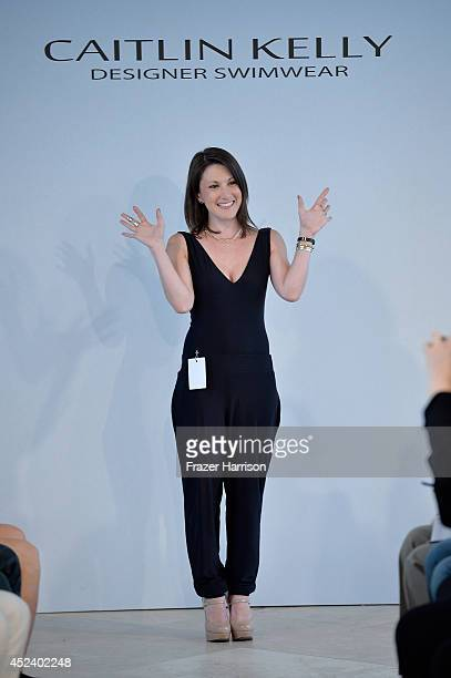 Designer Caitlin Kelly poses at the Caitlin Kelly Designer Swimwear presentation during MercedesBenz Fashion Week Swim 2015 at the Penthouse at The...
