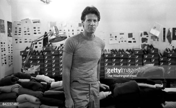 Designer Calvin Klein in his 7th avenue studio during the roll out of fashion designers 1980 fall collection in New York NY March 1980