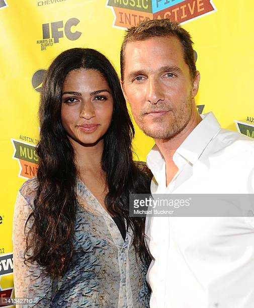 Designer Camila Alves and actor Matthew McConaughey arrive at the World Premiere of Bernie during the 2012 SXSW Music Film Interactive Festival at...