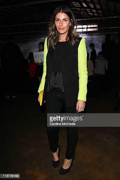 cbeaa5e455d1 Designer Camilla FreemanTopper arrives at the Josh Goot catwalk during  Rosemount Australian Fashion Week Spring