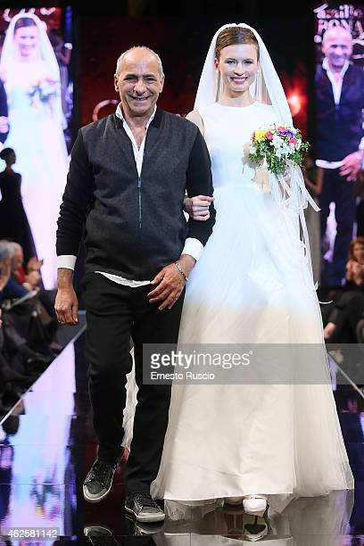 Designer Camillo Bona during the Camillo Bona fashion show as a part of AltaRoma 2015 at Acquario Romano on January 31 2015 in Rome Italy