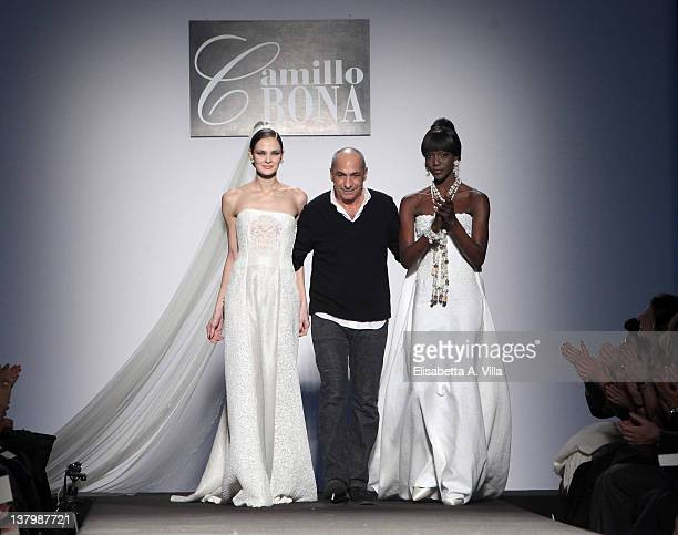Designer Camillo Bona walks the runway during Camillo Bona S/S 2012 fashion show as part of AltaRoma AltaModa Fashion Week on January 30 2012 in Rome...