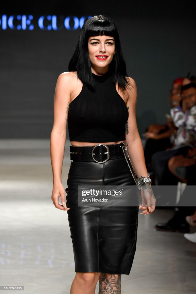 Designer Candice Cuoco walks the runway for Candice Cuoco at Miami Swim Week powered by Art Hearts Fashion Swim/Resort 2018/19 at Faena Forum on July 12, 2018 in Miami Beach, Florida.
