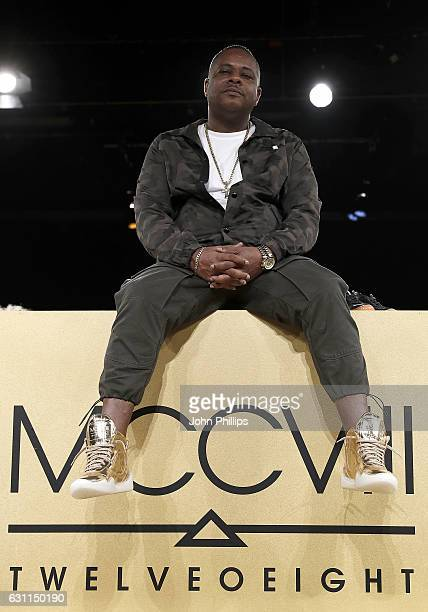 Designer Carl Gilliam during the MCCVIII presentation during London Fashion Week Men's January 2017 collections at Institute Of Contemporary Arts on...
