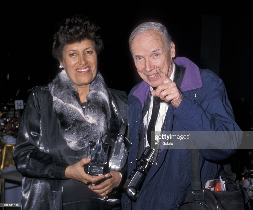 Designer Carla Fendi and photographer Bill Cunningham attend 17th Annual Night of Stars Gala on October 24, 2000 at Cipriani in New York City.