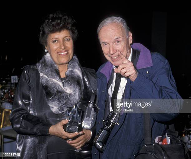 Designer Carla Fendi and photographer Bill Cunningham attend 17th Annual Night of Stars Gala on October 24 2000 at Cipriani in New York City