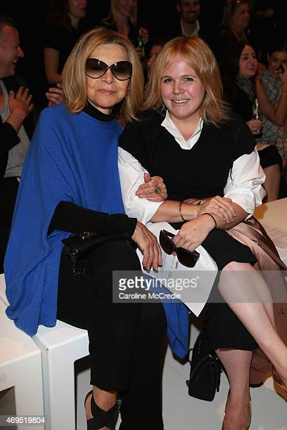 Designer Carla Zampatti and Alice Babidge attend the Tome show at MercedesBenz Fashion Week Australia 2015 at Carriageworks on April 13 2015 in...