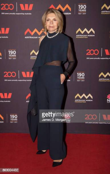 Designer Carla Zampatti at a gala event to celebrate the opening of the Westpac Long Gallery at the Australian Museum on October 19 2017 in Sydney...