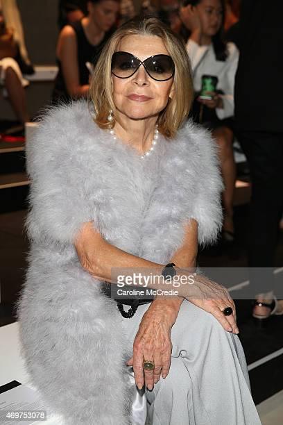 Designer Carla Zampatti attends the Bianca Spender show at MercedesBenz Fashion Week Australia 2015 at Carriageworks on April 15 2015 in Sydney...
