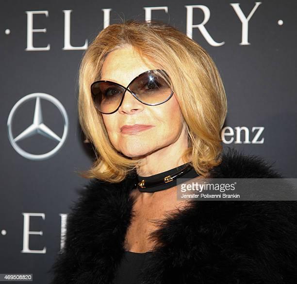 Designer Carla Zampatti attends the MercedesBenz Presents Ellery show at MercedesBenz Fashion Week Australia 2015 at Carriageworks on April 12 2015...