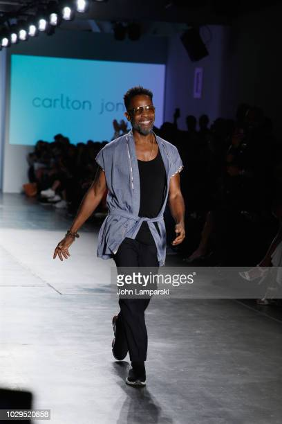 Designer Carlton Jones walks the runway during the Global Fashion Collective II - Front Row during New York Fashion Week: The Shows on September 8,...