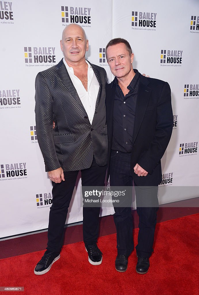 Designer Carmen Marc Valvo (L) and Christian Knaust attend the Bailey House's 2014 Gala & Auction at Pier 60 on March 27, 2014 in New York City.