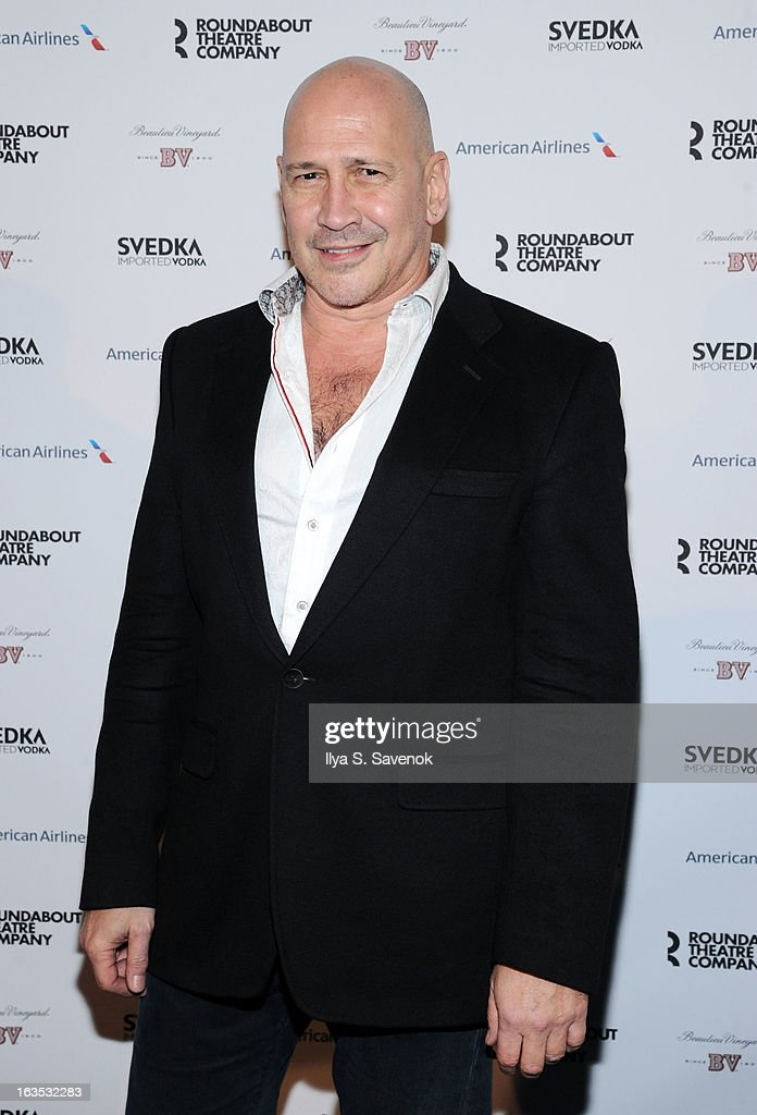 Designer Carmen Marc Valvo attends the 2013 Roundabout Theatre Company Spring Gala at Hammerstein Ballroom on March 11, 2013 in New York City.