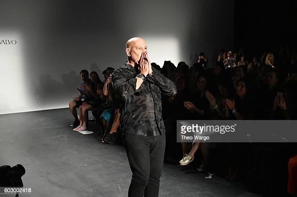 Designer Carmen Marc Valvo attends the Carmen Marc Valvo Spring/Summer 2017 Fashion Show during New York Fashion Week at Pier 59 Studios on September...