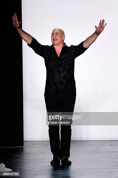 Designer Carmen Marc Valvo walks the runway at Carmen Marc Valvo Women's and Men's Collection S/S 2016 during New York Fashion Week The Shows at The...
