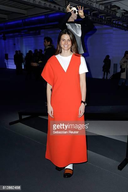 Designer Carolina Castiglioni attends the Looking For Marni - Eyewear Presentation during Milan Fashion Week Fall/Winter 2016/17 on February 28, 2016...