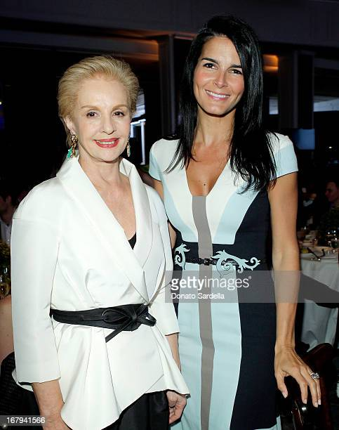"""Designer Carolina Herrera and actress Angie Harmon attend EIF Women's Cancer Research Fund's 16th Annual """"An Unforgettable Evening"""" presented by Saks..."""