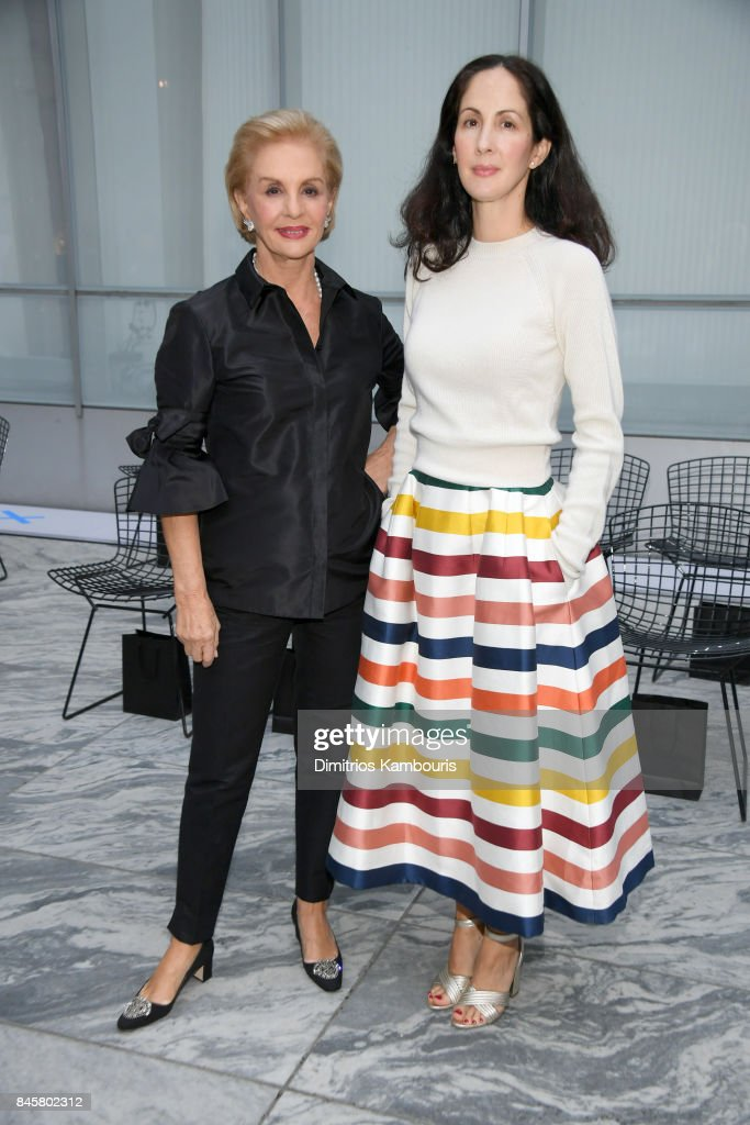 Designer Carolina Herrera and Patricia Cristina Herrera attend Oscar De La Renta fashion show during New York Fashion Week on September 11, 2017 in New York City.