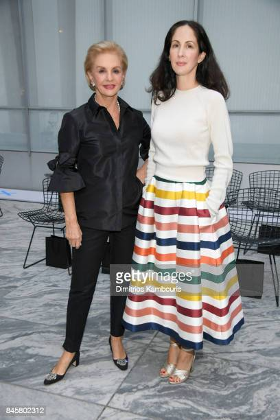 Designer Carolina Herrera and Patricia Cristina Herrera attend Oscar De La Renta fashion show during New York Fashion Week on September 11 2017 in...