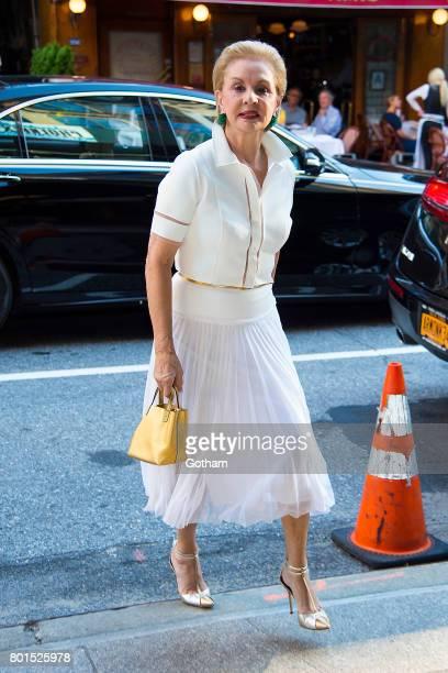 Designer Carolina Herrera attends a dinner honoring Anna Wintour on June 26, 2017 in New York City.