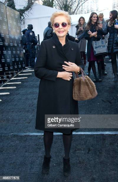 Designer Carolina Herrera attends Carolina Herrera fashion show during Fall 2014 Mercedes Benz Fashion Week at Lincoln Center on February 10 2014 in...