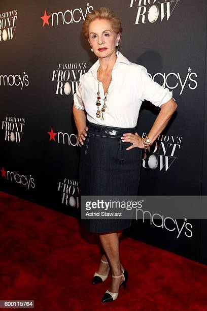 Designer Carolina Herrera attends Macy's Presents Fashion's Front Row on September 7 2016 in New York City