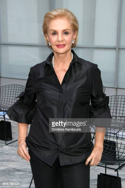 61aa5fe7004ab Designer Carolina Herrera attends Oscar De La Renta fashion show during New  York Fashion Week on