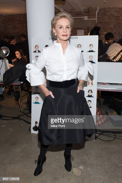 54d81210b9ab8 Designer Carolina Herrera attends the Carolina Herrera Collection fashion  show during New York Fashion Week on