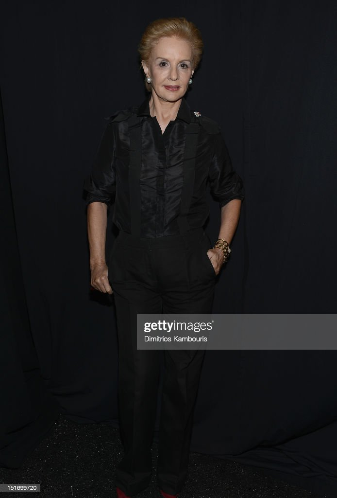 Designer Carolina Herrera attends the Carolina Herrera show during Spring 2013 Mercedes-Benz Fashion Week at The Theatre Lincoln Center on September 10, 2012 in New York City.