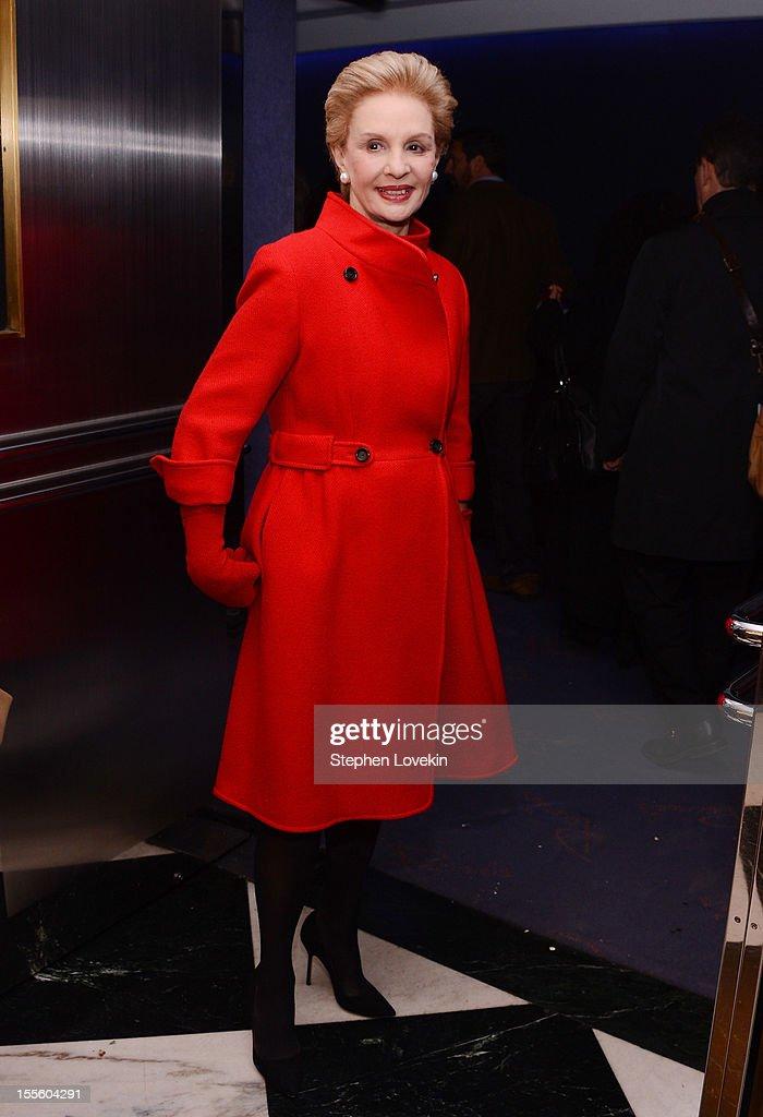 Designer Carolina Herrera attends the 'Inventing David Geffen' New York Premiere at Paris Theater on November 5, 2012 in New York City.