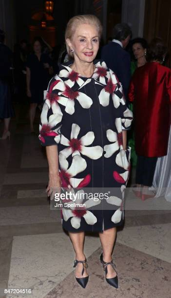Designer Carolina Herrera attends the premiere of 'Manolo The Boy Who Made Shoes For Lizards' hosted by Manolo Blahnik with The Cinema Society at The...