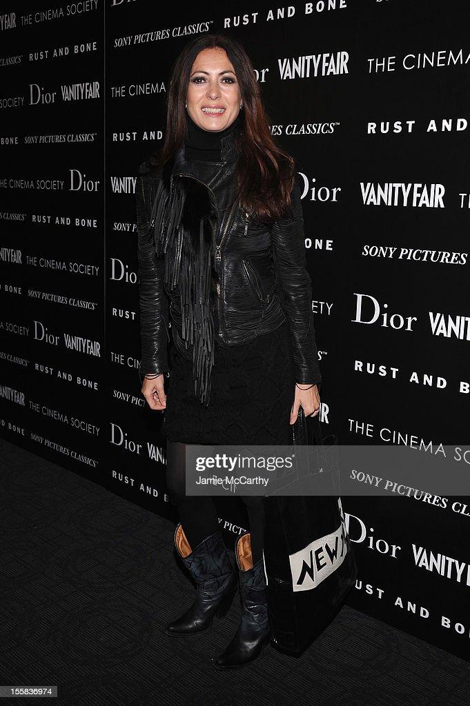 Designer Catherine Malandrino attends The Cinema Society with Dior & Vanity Fair screening of 'Rust And Bone' at Landmark Sunshine Cinema on November 8, 2012 in New York City.