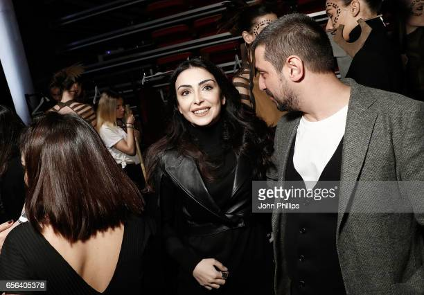 Designer Ceren Ocak backstage ahead of the Ceren Ocak show during MercedesBenz Istanbul Fashion Week March 2017 at Grand Pera on March 22 2017 in...
