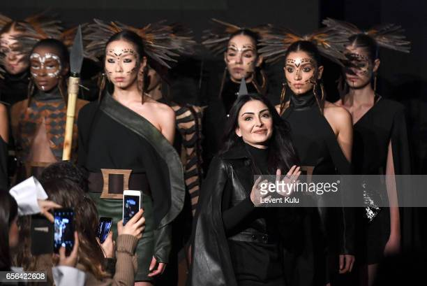 Designer Ceren Ocak on the runway at the Ceren Ocak show during MercedesBenz Istanbul Fashion Week March 2017 at Grand Pera on March 22 2017 in...