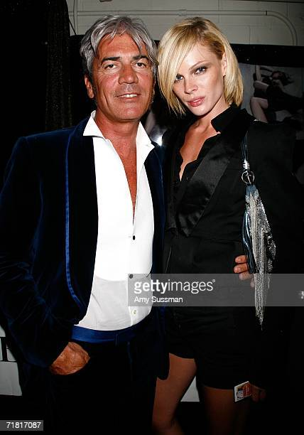 Designer Cesare Paciotti and Kate Nauta pose during The Bratz Forever Diamondz Lounge hosted by Distinctive Assets at the Conde Nast Media Group's...