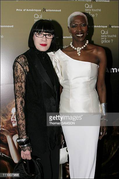 Designer Chantal Thomass and Princess Esther Kamatari at the Gala Award of Amerique Marionnaud Prize in favor of Patronage Cardiac Surgery at the Art...