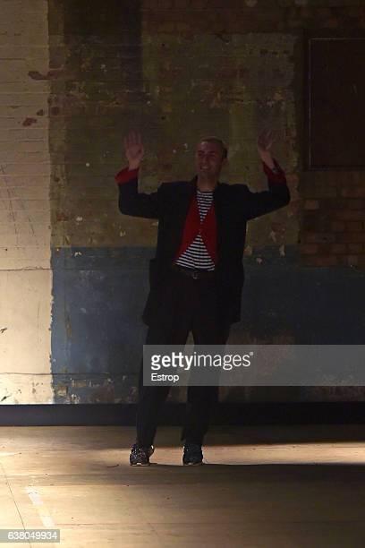 Designer Charles Jeffrey Loverboy walks the runway at the MAN by Charles Jeffrey Loverboy show during London Fashion Week Men's January 2017...