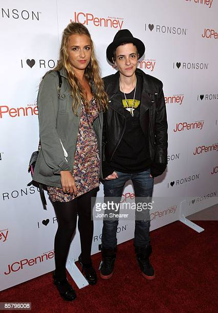 Designer Charlotte Ronson and sister DJ Samantha Ronson arrive at the I Heart Ronson launch party presented by Charlotte Ronson and JCPenney held at...