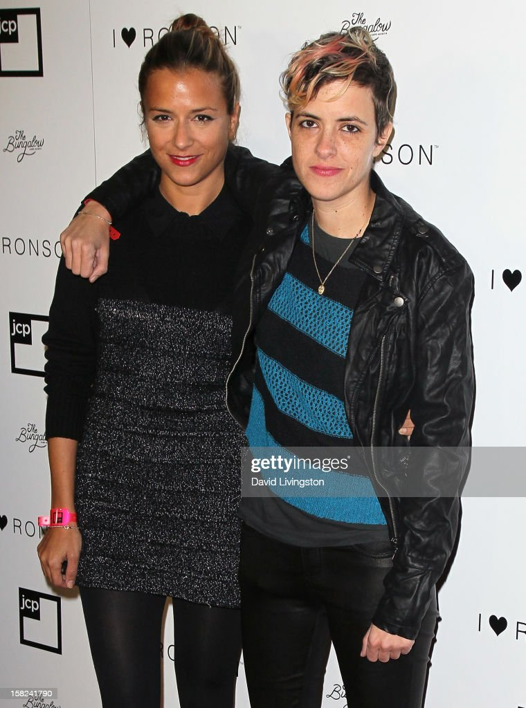 Designer Charlotte Ronson (L) and sister Samantha Ronson attend Charlotte Ronson and jcpenney celebrating her 'I Heart Ronson' Collection at The Bungalow on December 11, 2012 in Santa Monica, California.