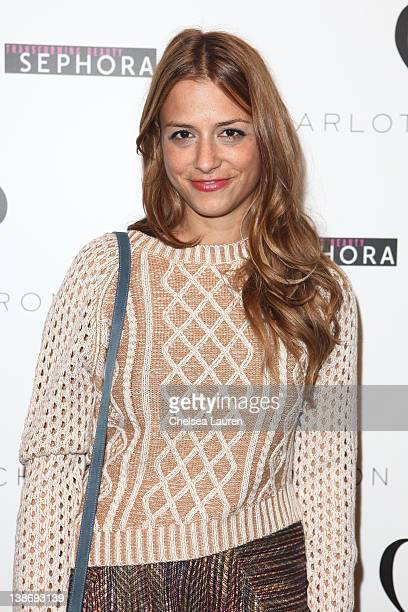 Designer Charlotte Ronson backstage at the Charlotte Ronson Fall 2012 fashion show during MercedesBenz Fashion Week at The Stage at Lincoln Center on...