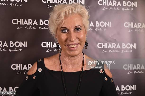 Designer Chiara Boni backstage at the Chiara Boni La Petite Robe during New York Fashion Week The Shows at The Dock Skylight at Moynihan Station on...