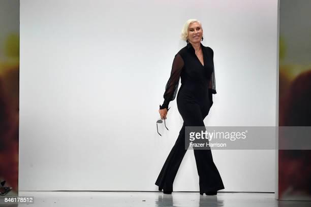 Designer Chiara Boni walks the runway at the Chiara Boni La Petite Robe fashion show during New York Fashion Week The at Gallery 3 Skylight Clarkson...