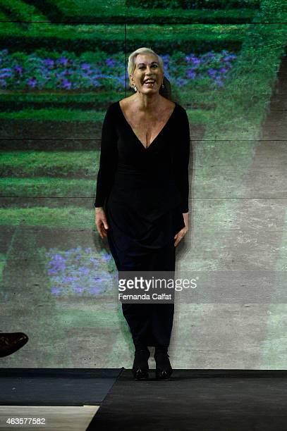 Designer Chiara Boni walks the runway at the La Petite Robe fashion show during MercedesBenz Fashion Week Fall 2015Lincoln Center on February 16 2015...