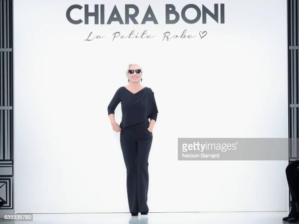 Designer Chiara Boni walks the runway during the Chiara Boni La Petite Robe collection during New York Fashion Week The Shows at Gallery 3 Skylight...