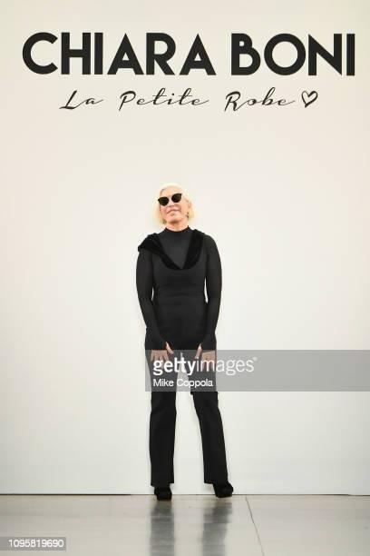 Designer Chiara Boni walks the runway for the Chiara Boni La Petite Robe fashion show during New York Fashion Week The Shows at Gallery II at Spring...