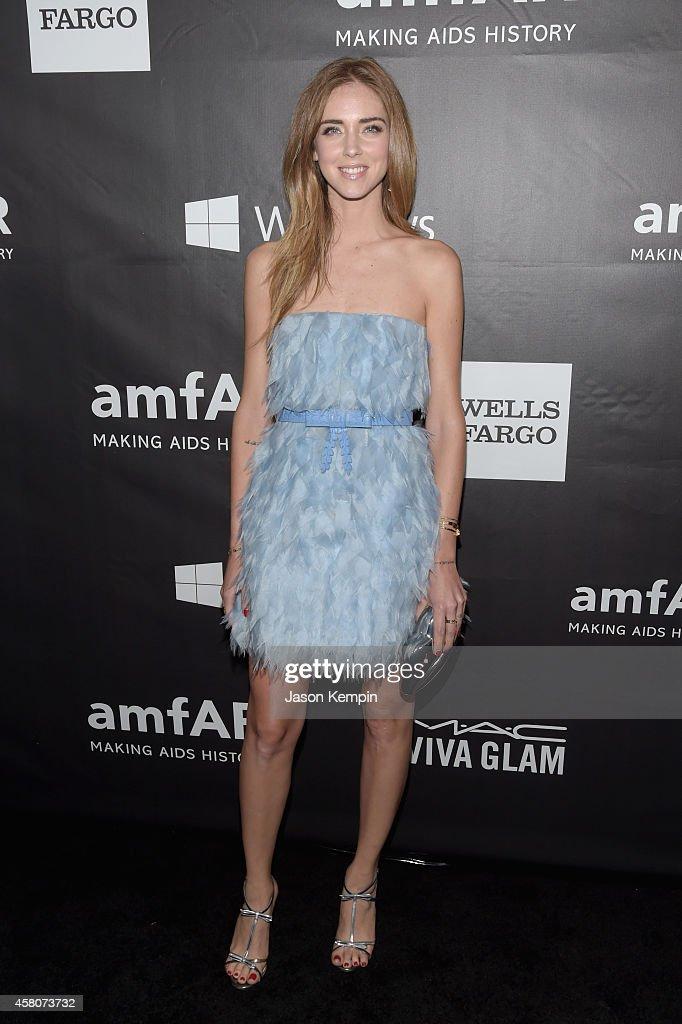 Designer Chiara Ferragni attends the 2014 amfAR LA Inspiration Gala at Milk Studios on October 29, 2014 in Hollywood, California.