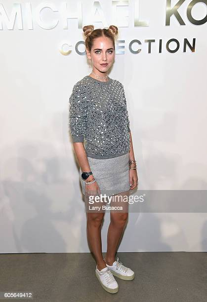 Designer Chiara Ferragni attends the Michael Kors Spring 2017 Runway Show during New York fashion week at Spring Studios on September 14 2016 in New...