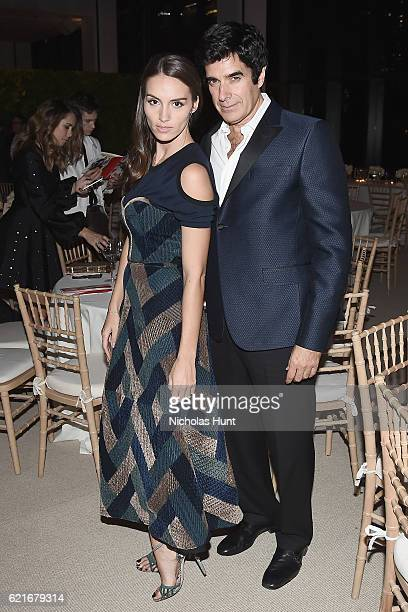 Designer Chloe Gosselin and illusionist David Copperfield attend 13th Annual CFDA/Vogue Fashion Fund Awards at Spring Studios on November 7 2016 in...