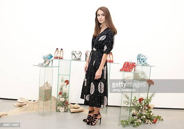 Designer Chloe Gosselin attends her Spring 2016 New York Fashion Week presentation at Lori Bookstein Fine Art on September 13 2015 in New York City